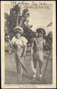 british guiana guyana, Native Wapisiana Indians, Warrior Dance Costumes (1922)