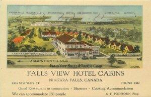 Falls View Hotel Cabins Niagara Falls Canada 1940s Postcard Photogelatine 13994