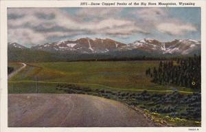 Snow Capped Peaks Of The Big Horn Mountain Wyoming