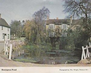 Benington Pond Hertfordshire Womens Institute Postcard