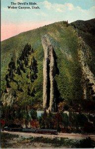 Postcard UT Utah The Devil's Slide Weber Canyon Unposted