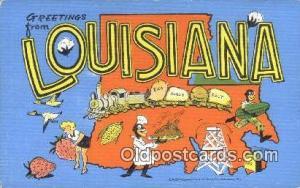Louisiana, USA Large Letter Town Postcard Post Card Old Vintage Antique  Loui...