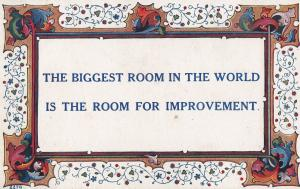 Room For Improvement Perfection Is Wrong Antique Proverb Postcard