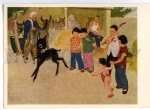 153384 China LUBOK Good Family pioneer KID & Donkey OLD