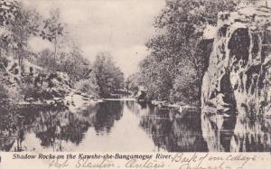 Shadow Rock on the Kawshe-she-Bangamogue River , MUSKOKA , Ontario , Canada ,...