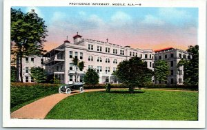 Mobile, Alabama Postcard PROVIDENCE INFIRMARY Hospital Building Kropp Linen