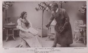 Mr Popple Of Ippleton Ethel Irving Mr G Huntley Play Real Photo RPC Postcard