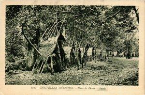 PC CPA NEW HEBRIDES, PACIFIC, PLACE DE DANSE, OUALA, Vintage Postcard (b19178)