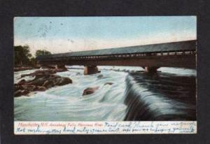NH Merrimac River MANCHESTER NEW HAMPSHIRE Doane Cancel