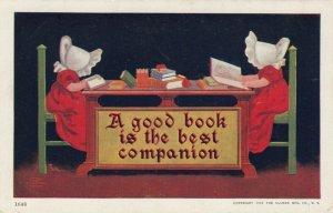 Bonnet Girls Reading Books , 1901-07