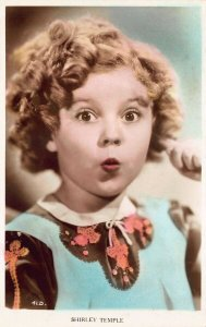 Shirley Temple Woow Colorized real photo postcard 41.D.