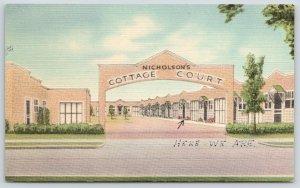 Bozeman MT~Nicholson's Cottage Court~Roadside Motel~Particular People~1950 Linen