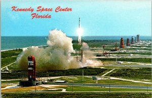 Postcard John F. Kennedy Space Center Florida Launch Site NASA Liftoff  1557