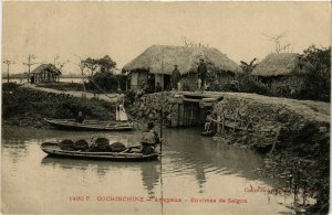 CPA AK INDOCHINA Cochinchine Arroyaux. Env.de Saigon VIETNAM (956913)