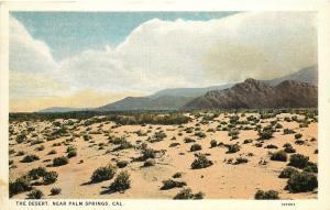 c1915-1930 Willard Postcard; Desert View near Palm Springs CA Unposted