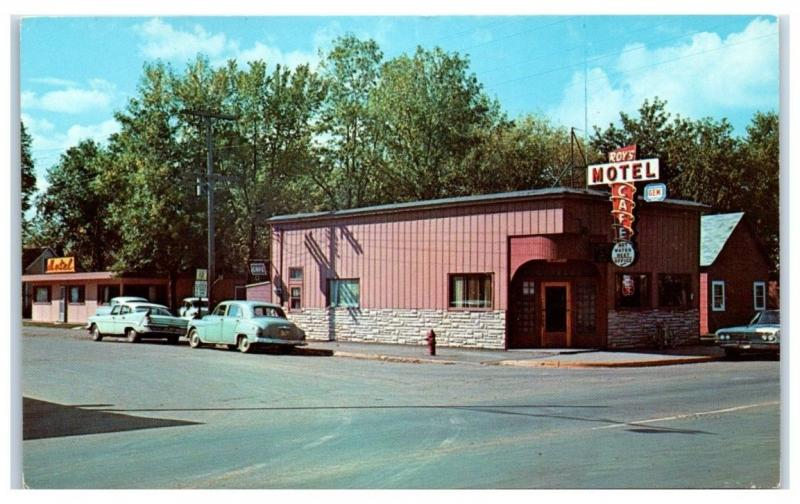 1950s 60s Roy S Cafe And Hotel Deerwood Mn Postcard