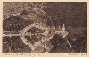 Zeppelin Postcard Germany Aerial View Gustav Eyb View of the Castle in Karlsruhe