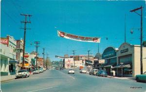 1950s AUBURN CALIFORNIA Street Scene automobiles Signage Royal Pictures 3108