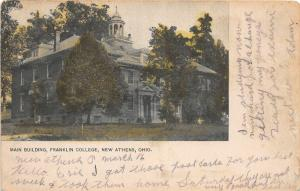 F11/ New Athens Ohio Postcard Harrison County c1910 Franklin College
