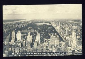New York, NY Postcard, View From Rainbow Room Lounge, Rockefeller Center