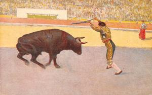Espana Corrida, Banderilleando al cuarleo, matador, bullfighting, bull fight