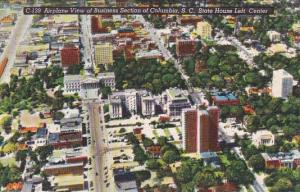 State House Left Center Airplane View Of Business Section Of Columbia  South ...