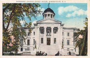 Somerset County Court House, Somerville, New Jersey,  Early Postcard, Unused