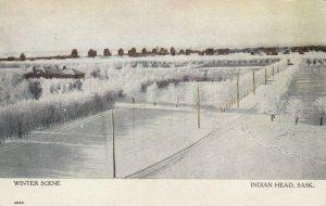 INDIAN HEAD , Saskatchewan, 1911 ; Winter Scene