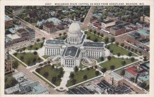 WisconsinMadison Wisconsin State Capitol As Seem From Aeroplane