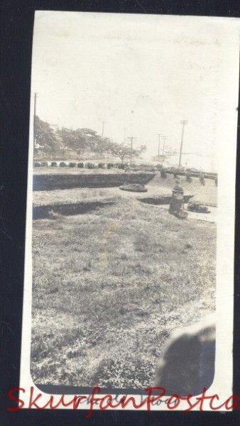REAL PHOTO PHOTOGRAPH MANILA PHILIPPINES THE OLD MOAT WWI ERA