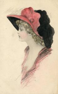 Lady with Flamboyant Hat  (Hand Colored)