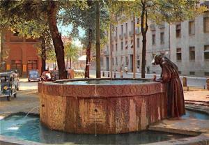 Italy Milan St. Francis Fountain, Fontana di S. Francesco Vintage Cars Auto