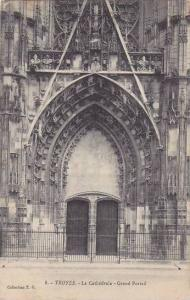 France Troyes La Cathedrale Grand Portail