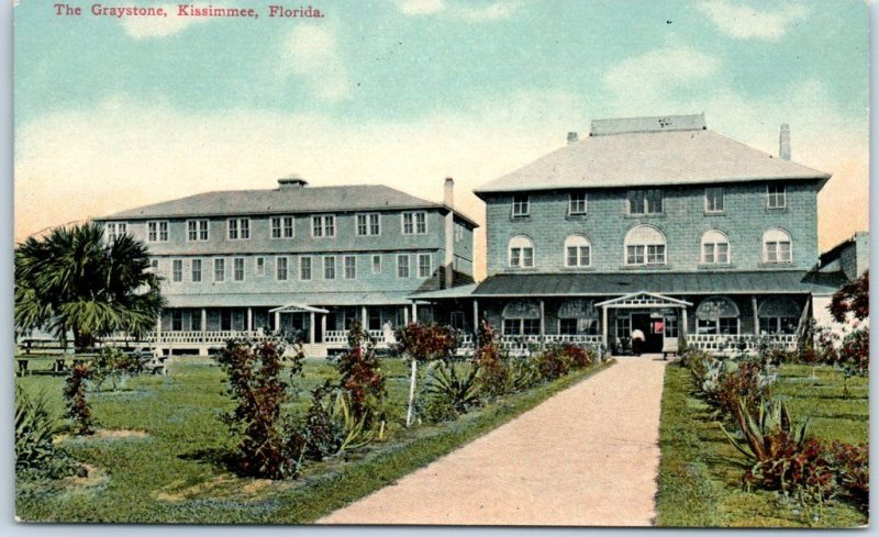 Kissimmee, Florida Postcard The Graystone Hotel Front View Dated 1912