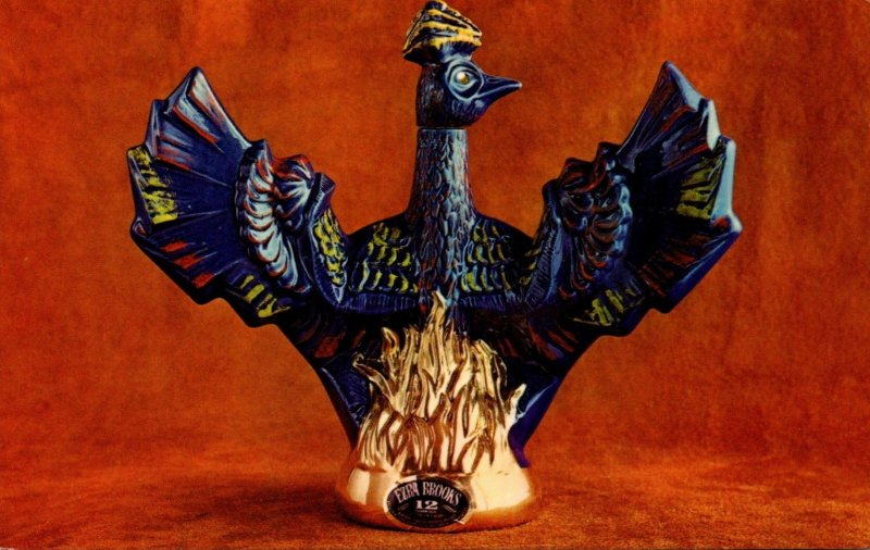 Advertising Phoenix Bird Decanter Ezra Brooks Distilling Company Frankfort Ke...