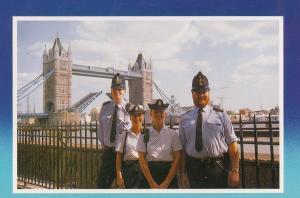 Policeman at Tower Bridge London 1980s Postcard