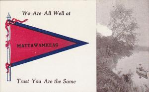 We Are All Well At Mattawamkeag Pennant Flag
