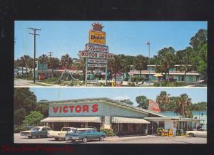 ST. AUGUSTINE FLORIDA VICTOR'S RESTAURANT OLD CARS