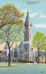 Alabama Selma First Baptist Church Curteich