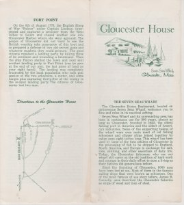 Gloucester House, Gloucester MA  Vintage Brochure, Sea Serpent Illustration