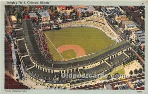 Wrigley Field, Home of the Chicago Cubs Chicago, Illinois, IL, USA Stadium Un...