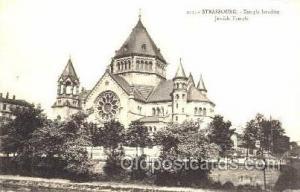 Strasbourg Jewish Temple, Temple Israelite, Judaic, Judaica, Postcard Postcar...
