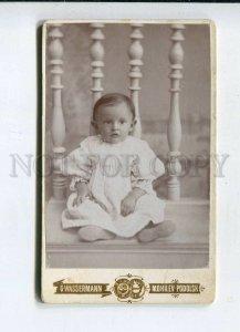 3074736 UKRAINE Little Girl in White Old CABINET PHOTO 1900