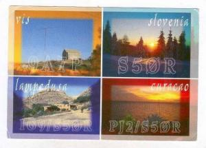 4-view postcard, Slovenia, 1990s