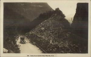 Car in Crawford Notch White Mountains NH c1915 Real Photo Postcard