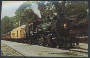 Texas State 400 Mikado Passenger Rusk Palestine Train Railroad Postcard