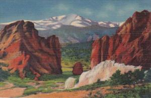 Colorado Pikes Peak and Garden Of The Gods Curteich