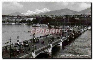 Postcard Modern Switzerland Geneva Mont Blanc Bridge