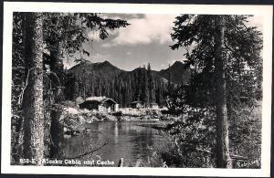Alaskan Cabin & Cache RPPC unused c1950's