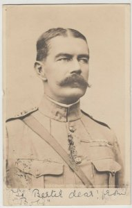 Military; Viscount (General) Kitchener RP PPC By Rotary, 1902 PMK, Post Boer War